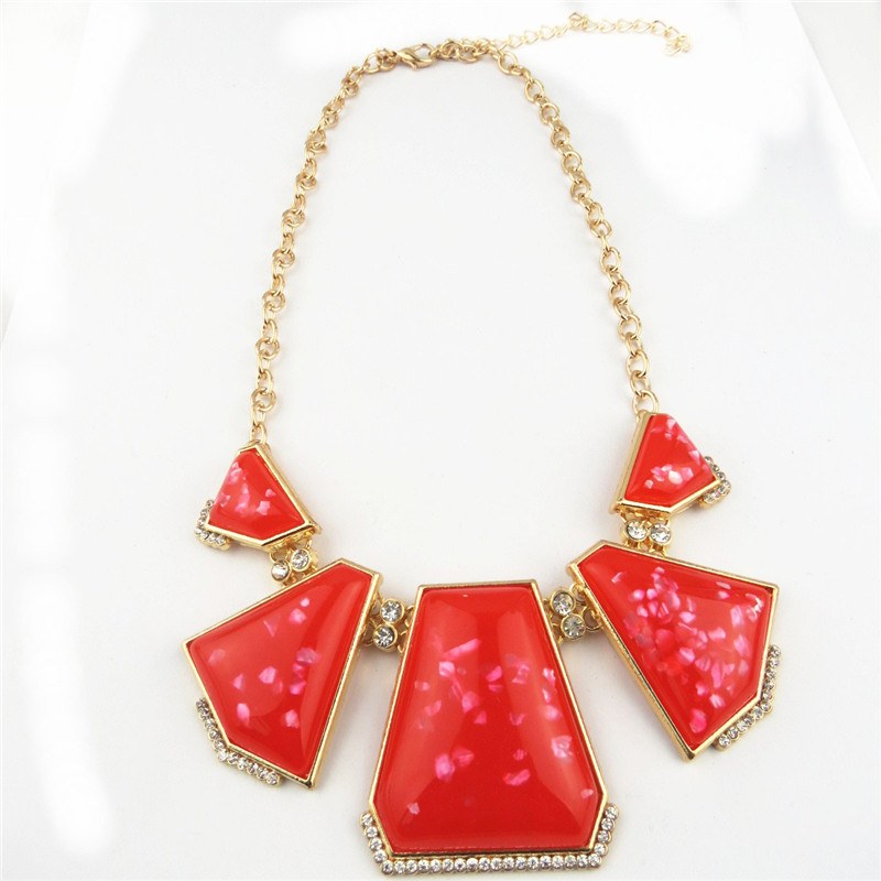 Bright Rose Color Charms Necklaces for Sale