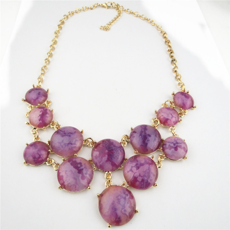 Fashion Chunky Amethyst Necklace for Women