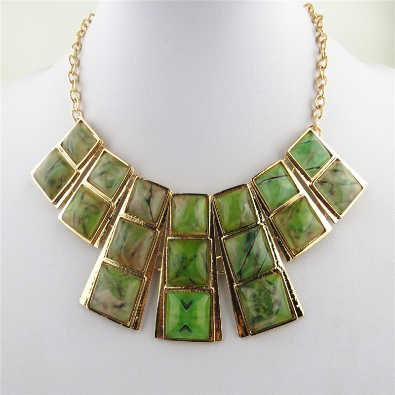 Emerald Square Egyptian Style Necklcaces Sale