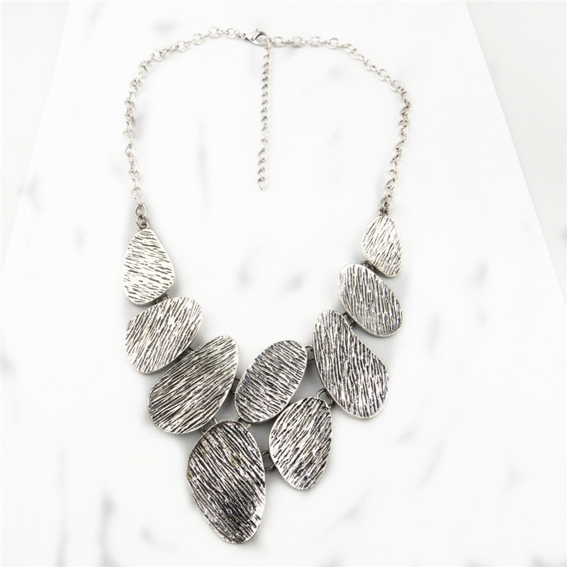 Silver Slice Design Charms Necklace for Women