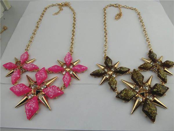 Unique Cool Star Design Rhinestone Necklace - Click Image to Close