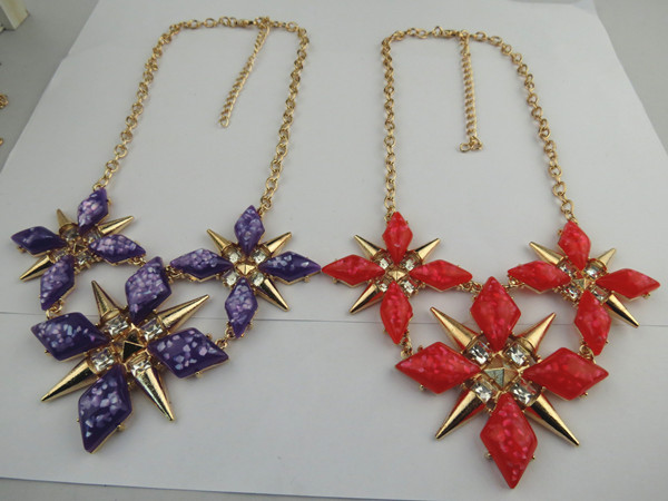 Unique Cool Star Design Rhinestone Necklace