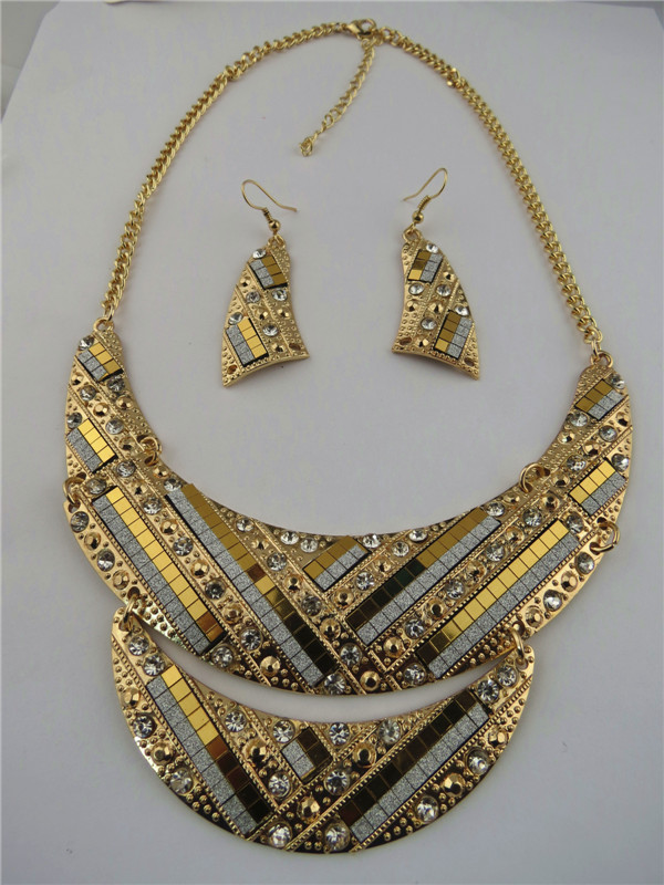 Fashion Design Golden Tribal Necklaces Online