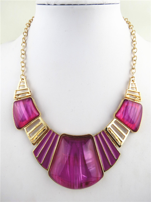 SEO_COMMON_KEYWORDS Fashion Amethyst Charms Bib Necklaces Online