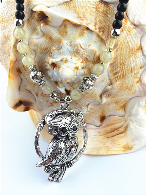 2015 Owl Shaped Pendant Women Necklace