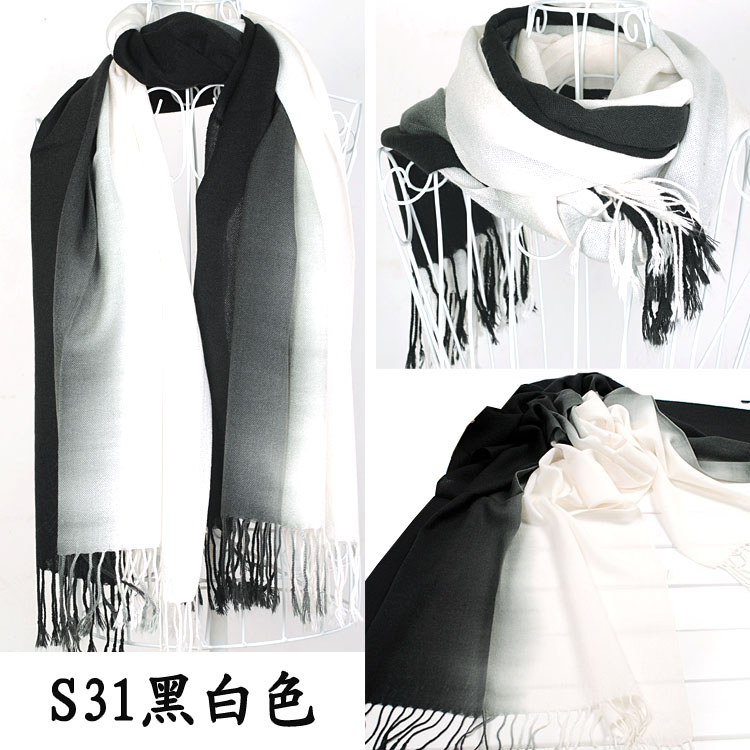 Black and White Pashmina Scarf