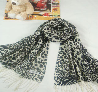 New Zealand leopard scarf shawl