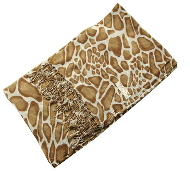 2014 Newest Pashmina Scarf with Animal Print