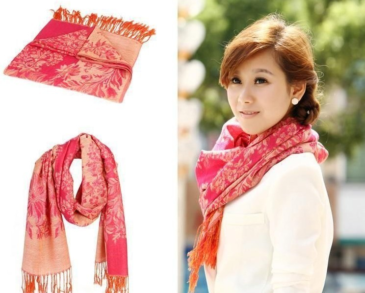 Wholesale Wrap Scarves Pashmina with Flowers