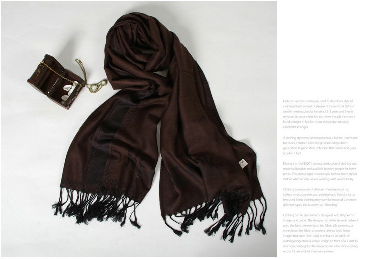 SEO_COMMON_KEYWORDS Lady Dark coffee pashmina scarves shawls wraps wholesale USA