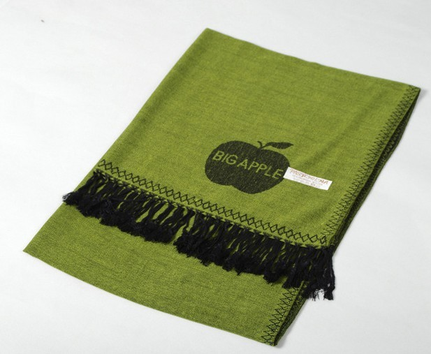 Green solid fashion pashmina scarves shawls cape wholesale
