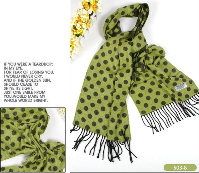 Fashion polka dot pashmina wraps shawls wholesale USA
