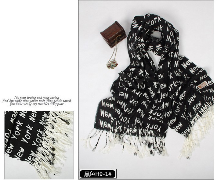 Black pashmina scarves shawls wholesale Paris