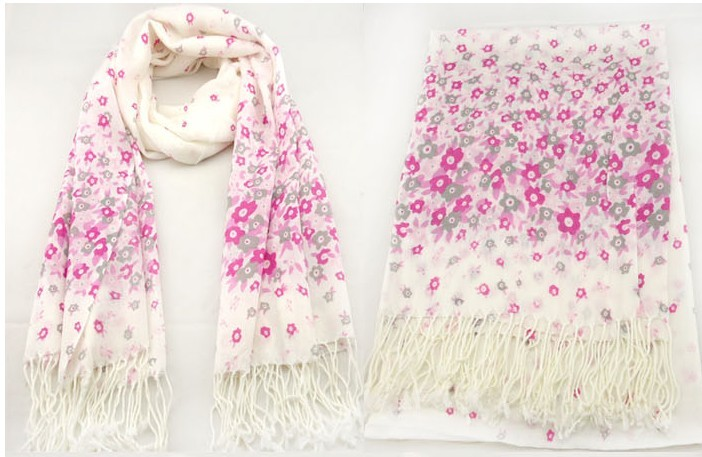 Flowers Style Scarf Pashmina for sale USA