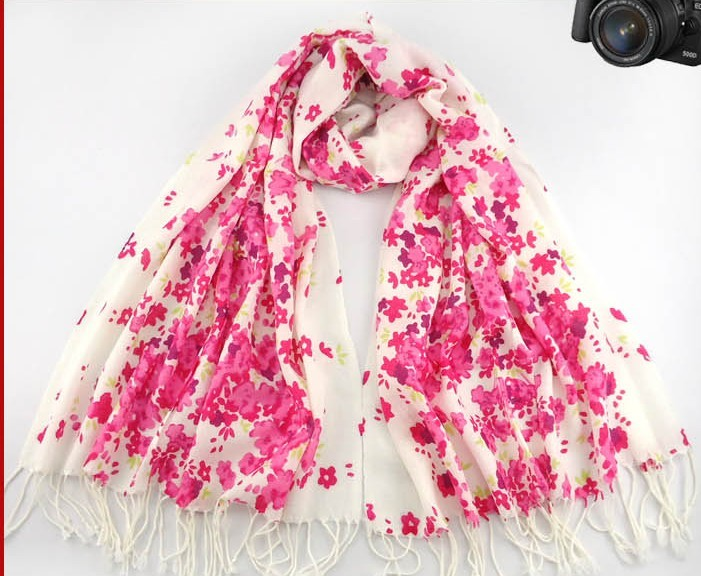 SEO_COMMON_KEYWORDS Red Flowers Pashmina Scarf Wholesale USA