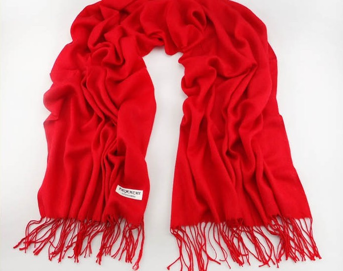 100% Red Plain Color Pashmina Scarf Wholesale