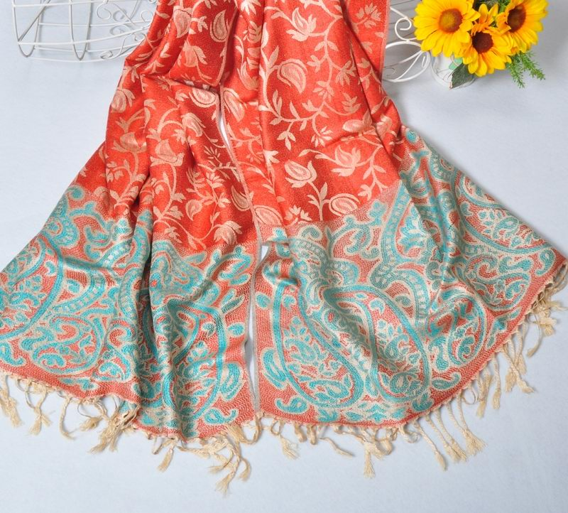2014 Australia Floral Pashmina Scarf Shawl For Winter