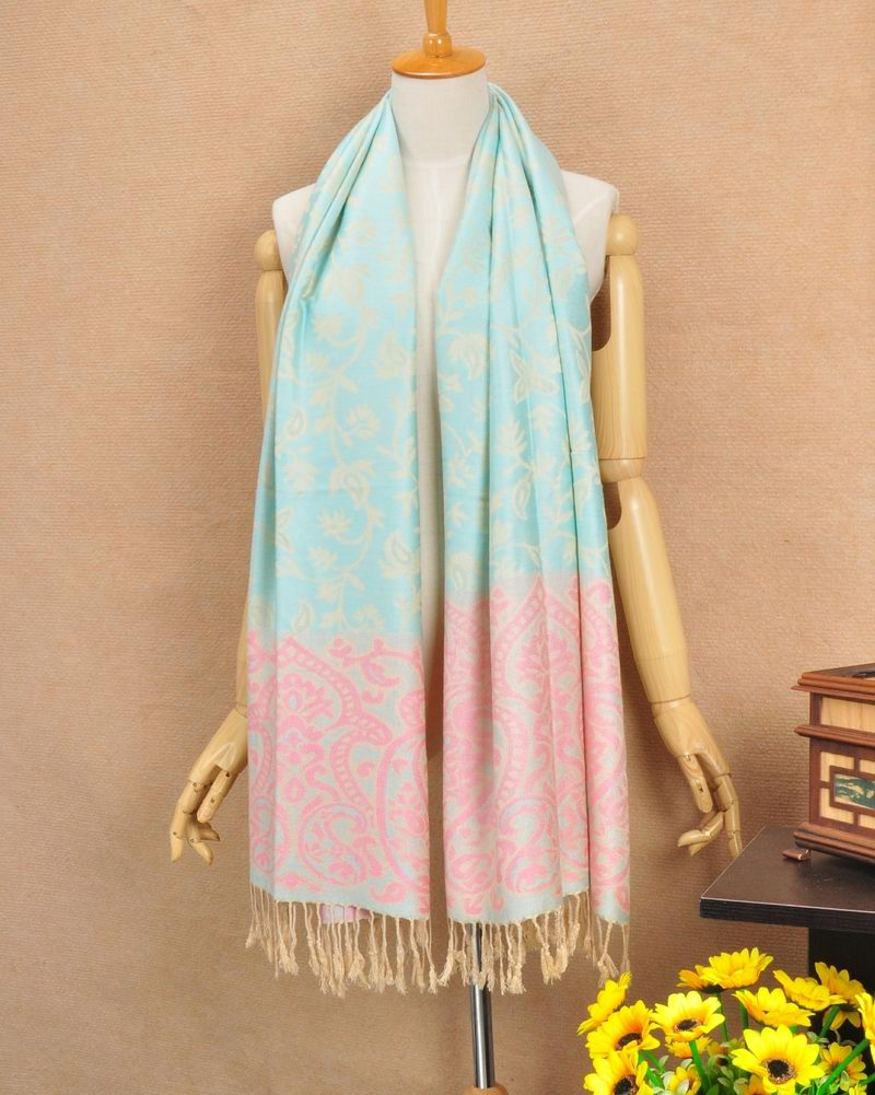 Light Blue Pashmina Cotton Scarf