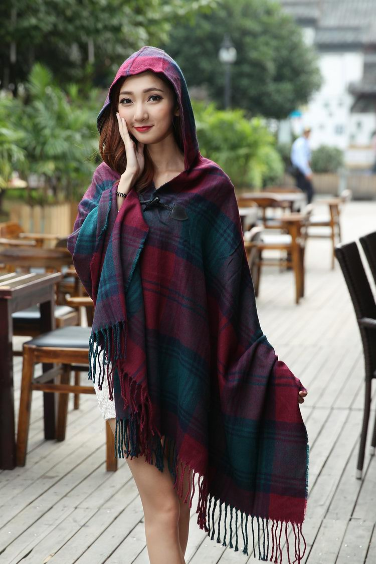1442 Large pashmina clothing with cap