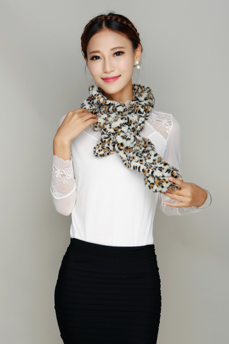 01 Animal Pattern Scarf For Women Dressing