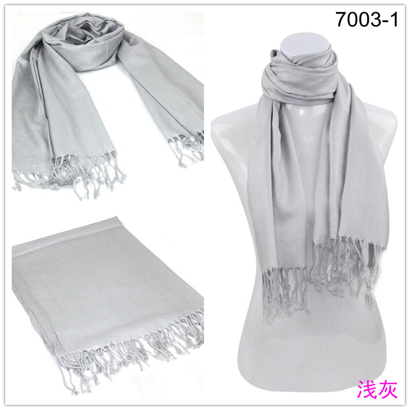 Light Grey Pashmina Scarves 002