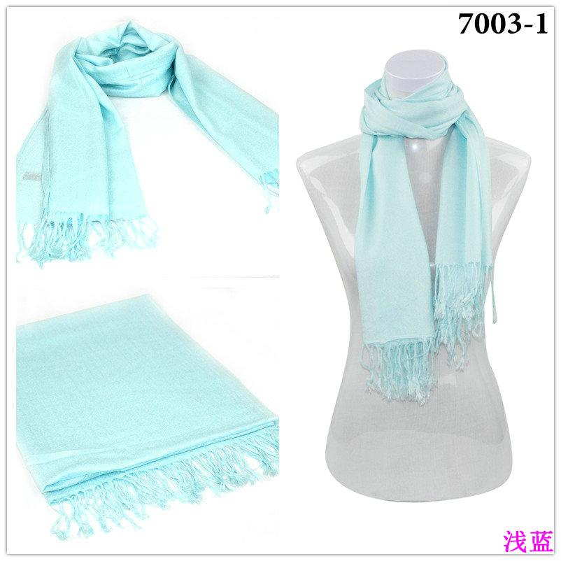 Light Blue Pashmina Scarf