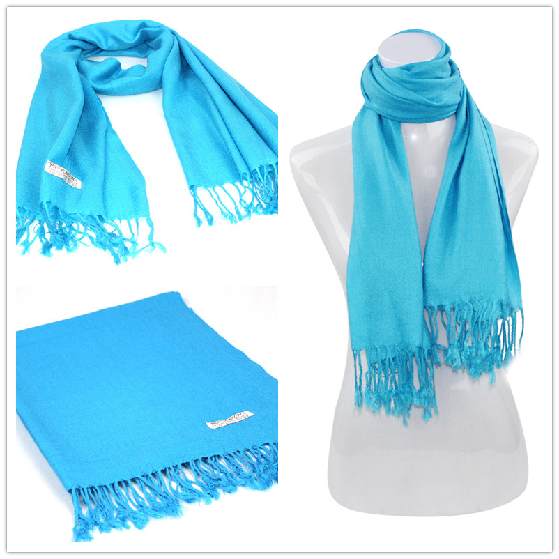 002 Blue Pashimas [Solid Color PASHMINAS 005]