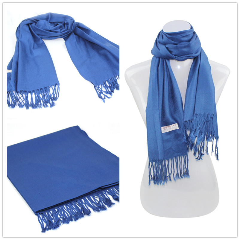SEO_COMMON_KEYWORDS Royal Blue Pashmina Scarf