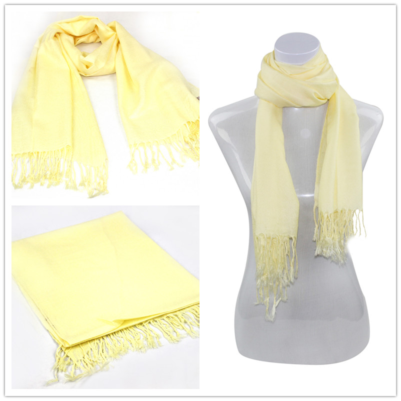 Yellow Pashmina Scarf [Solid Color PASHMINAS 015]