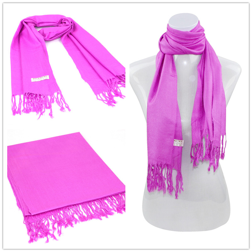 Bright Purple Pashmina Scarf