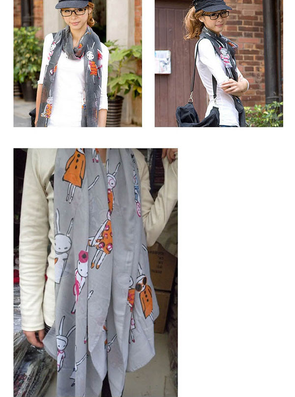 Ladies long polyester scarves for Autumn