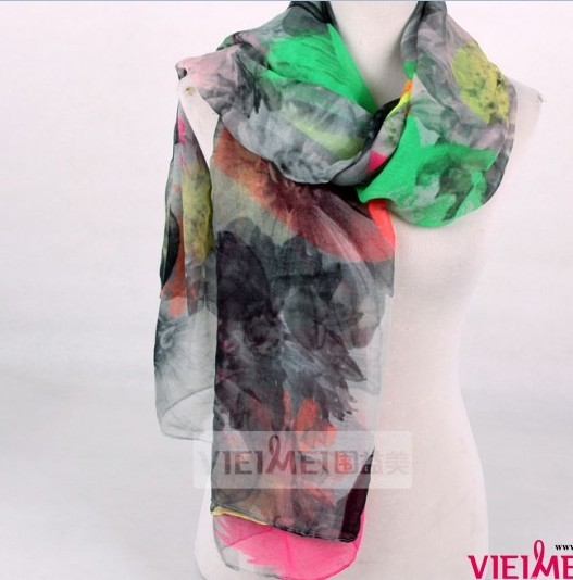 Painting Designs Polyester scarf wholesale China