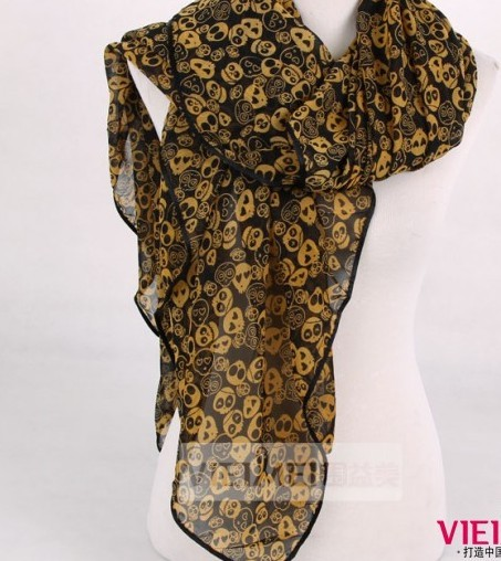 Skull Patterns Polyester scarf wholesale Paris