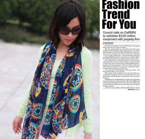 1 Europe Patter Scarf for women
