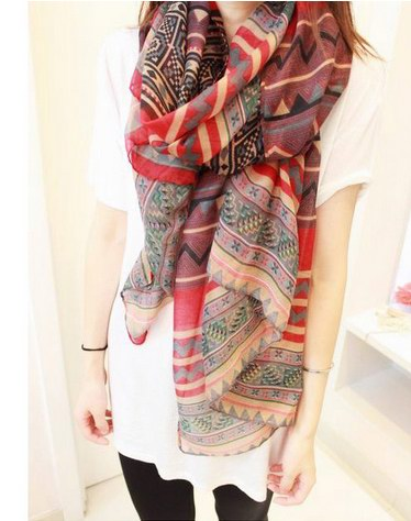 1 Cheap Fashion Design polyester scarf USA [Polyester1126]