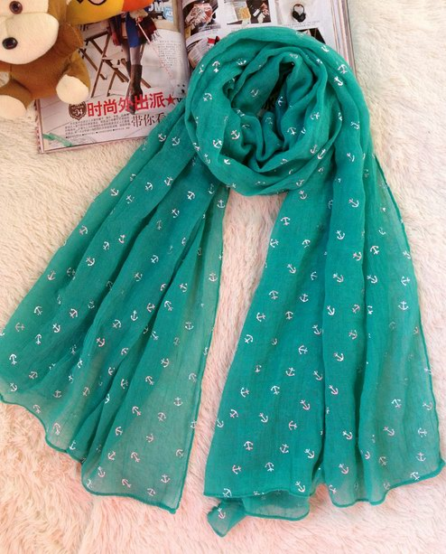 1 Anchor style polyester scarfs UK