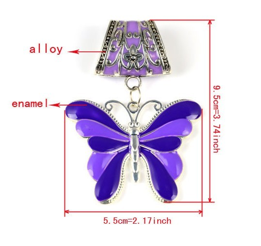 2013 Butterfly style jewelry and beads for spring scarf wholesal