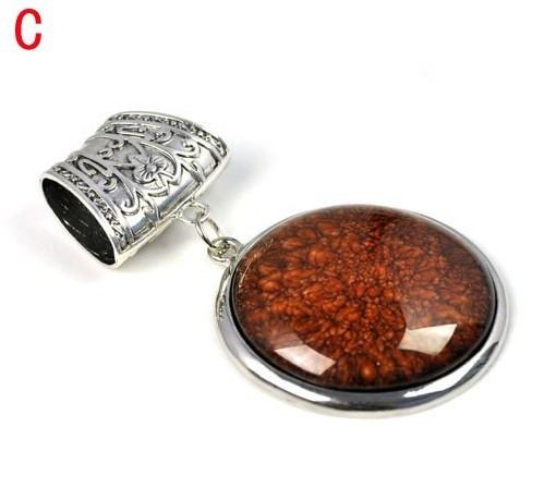 Wholesale Zinc alloy tube DIY jewelry accessories with Round res
