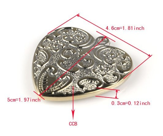 2013 alloy heart pendant jewelry accessories wholesale