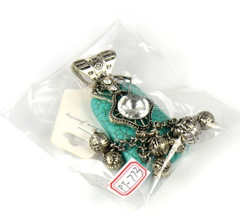 Fashion turquoise pendant for nacklace/scarf wholesale