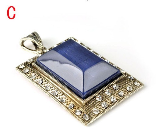 UK cheap Rectangle charm with resin plate wholesale