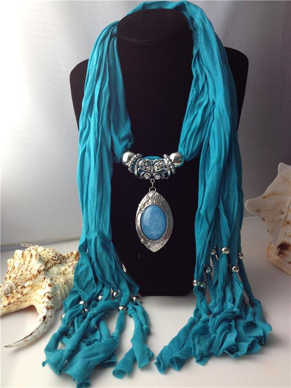 Beautiful Alloy pendant scarves with large rhinestone