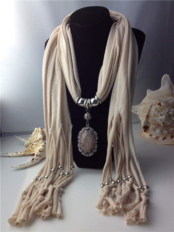 Hot fashion oval pendant scarf with large rhinestone uk