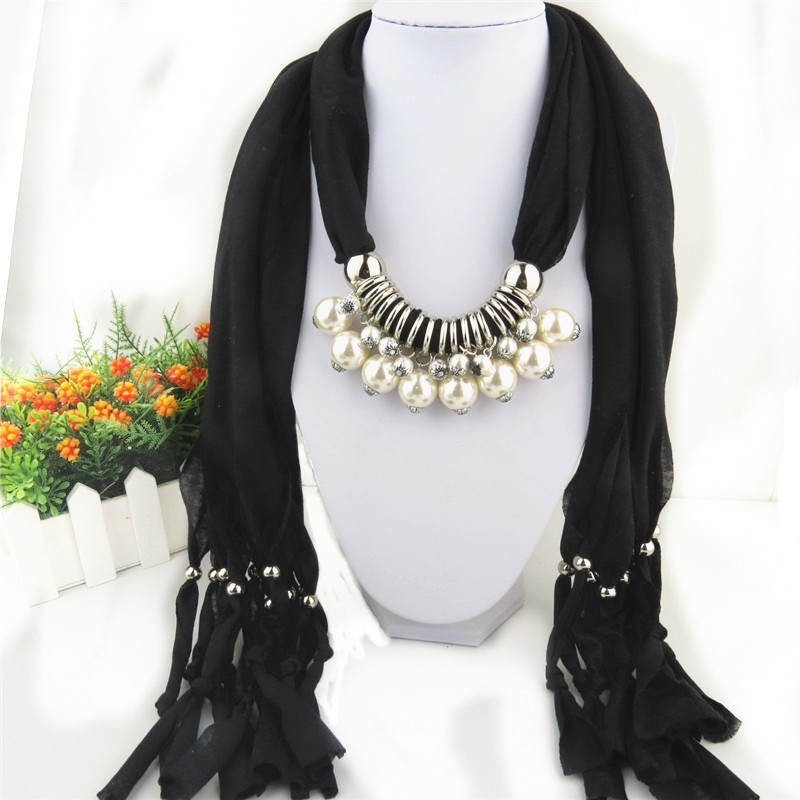 SEO_COMMON_KEYWORDS 2014 Pearl Design Pendants Scarf For Women
