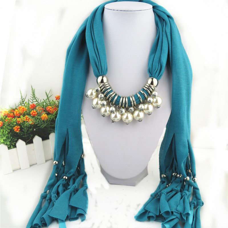 2014 Pearl Design Pendants Scarf For Women