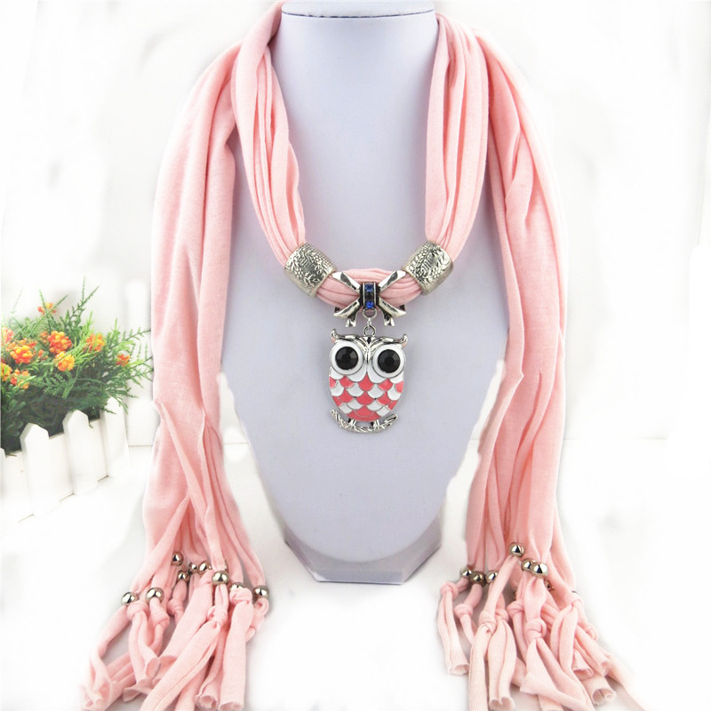 1 1 New Owl design pendant scarf Wholesale