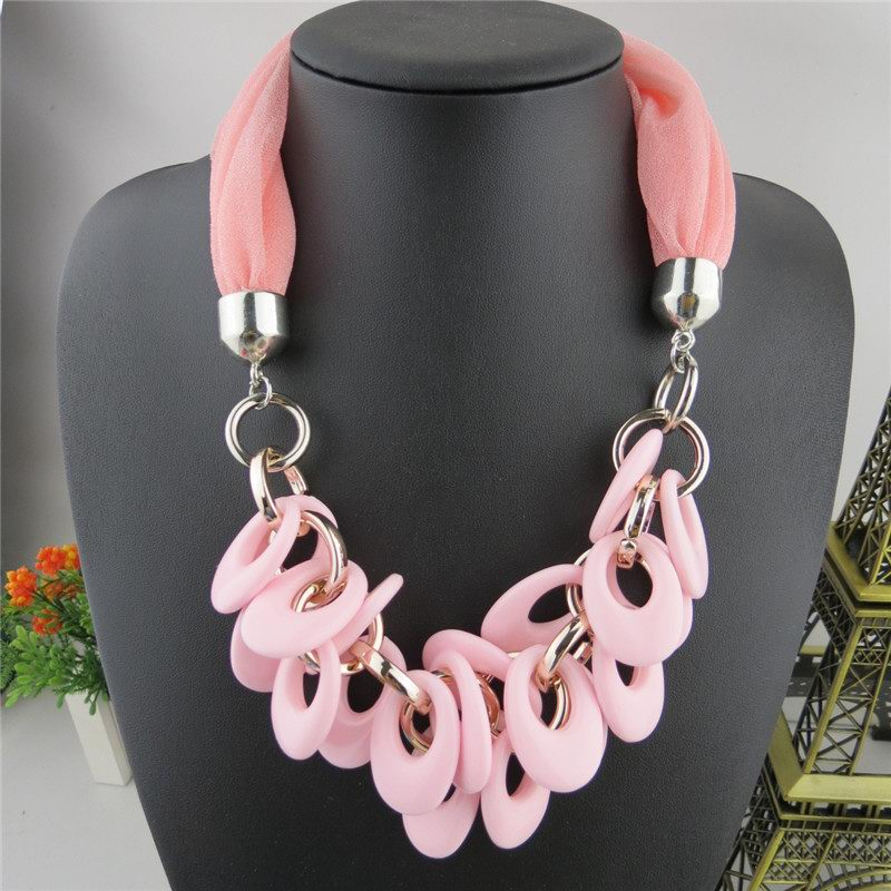 1 1 Alloy Short Necklace Scarf For Women