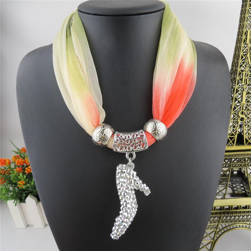 2014 New High-heeled Shoes Design Jewelry Scarf