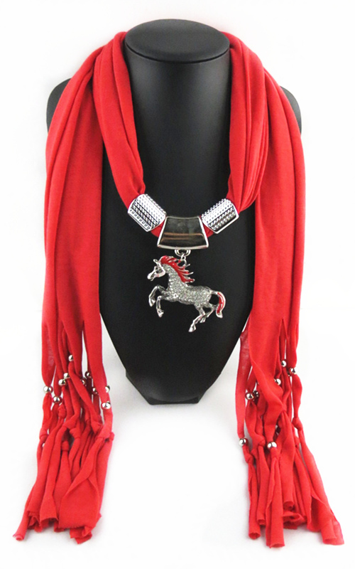 Fashion Horse Pandent Scarf