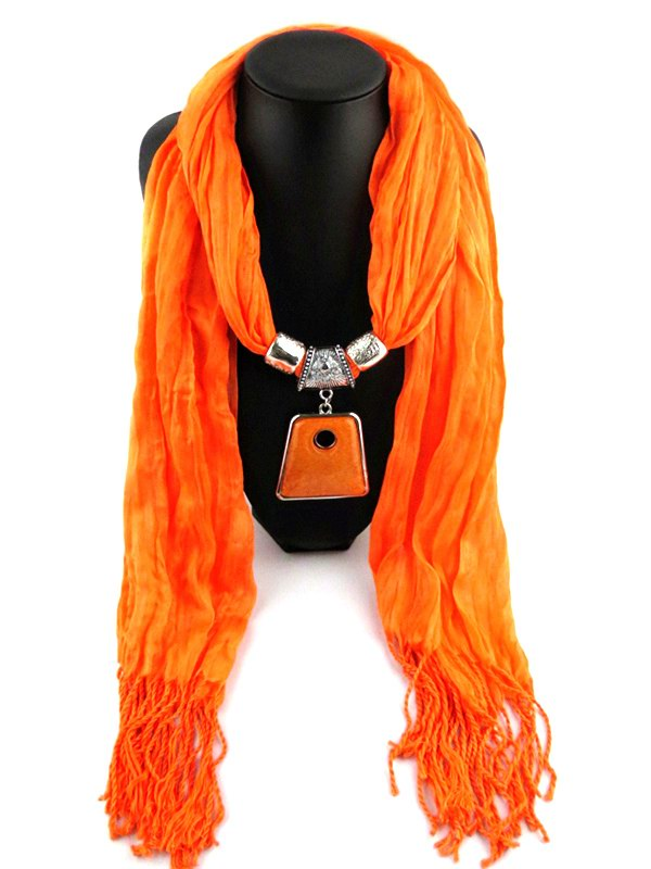 Tassel Scarf With pendants attached